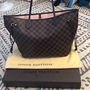 Louis Vuitton Neverfull MM Damier Ebene Rose